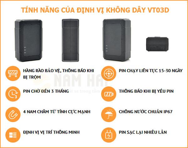 Tính năng của thiết bị định vị không dây VT03D